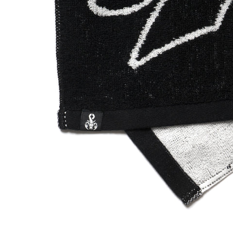 SOPHNET. Tail Logo Hand Towel Black