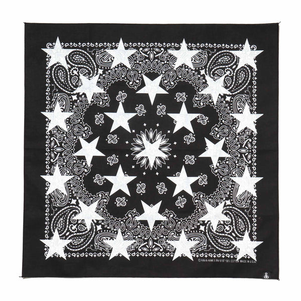 X Hav A Hank Over Print Star Bandana Black Haven