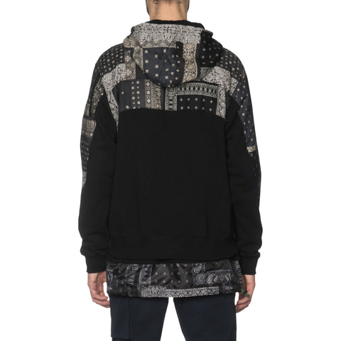 SOPHNET. Bandana Chest Panel Zip Up Hoody Black