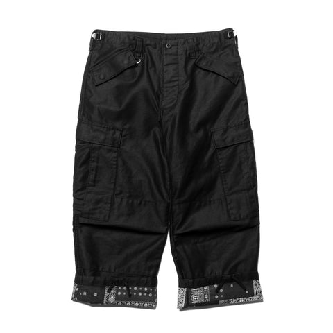 SOPHNET. Cropped Wide Cargo Pant Black