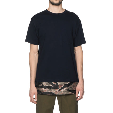 SOPHNET. Fake Layered Pocket Tee Navy