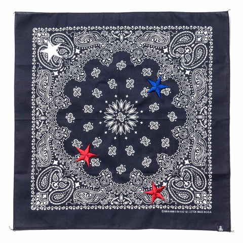 Sophnet. Star Embroidery Bandana (Have-A-Hank) Navy