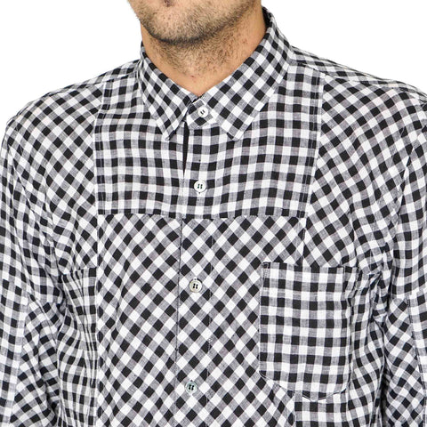 sacai Drawcord Patchwork Checkered Shirt