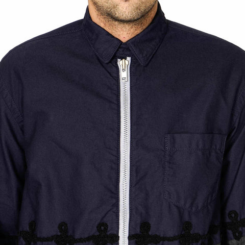 sacai Embroidered Zip Shirt
