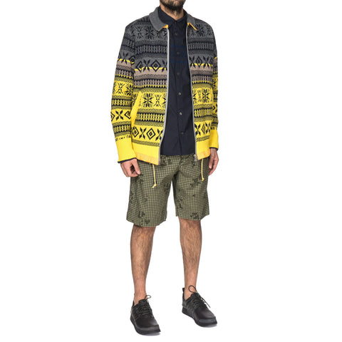 sacai Night Camo Print Short Pants Khaki