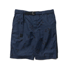 sacai Night Camo Print Short Pants Navy
