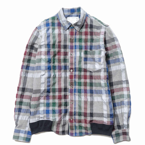 sacai Sucker Check Shirt Gray Check