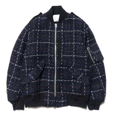 Tweed Jacket Navy