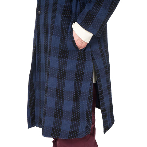 Sasquatchfabrix. Sashiko Block Check Light Coat