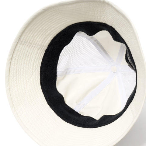 Sasquatchfabrix. Side Mesh Bucket Hat White