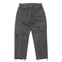sasquatchfabrix. Twist Tappered Denim Pants Black