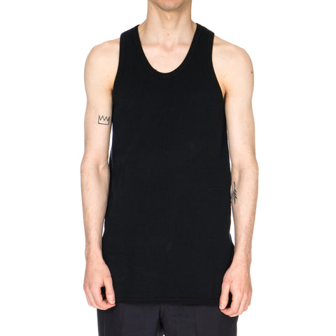 Window Waffle Tank Top Black