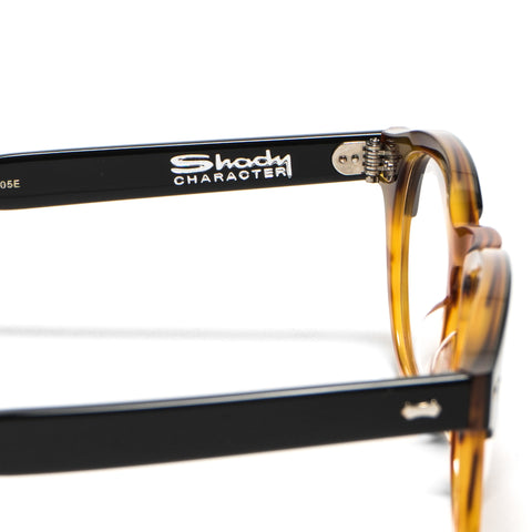Shady Character Arnie 48 Optical Black/Light Brown/Clear