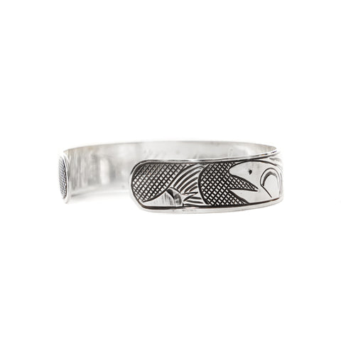MAPLE Silver 925 Orca & Salmon Bangle