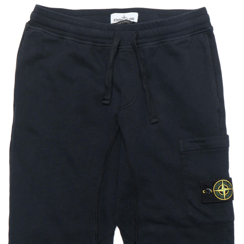 Stone Island Brushed Cotton Fleece Garment Dyed Classic Fleece Pants Navy