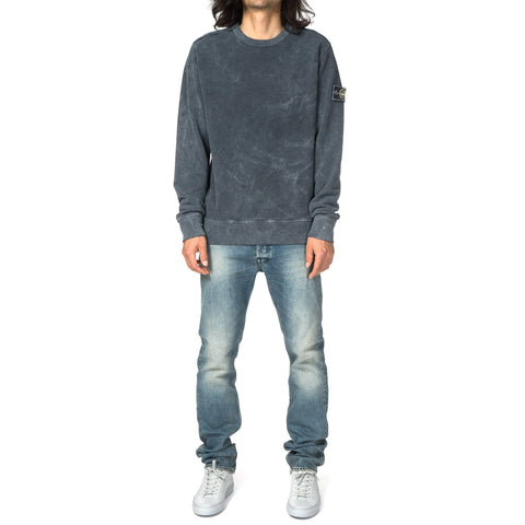 Stone Island Brushed Cotton Fleece Garment Dyed Dust Color Frost Finish Crewneck