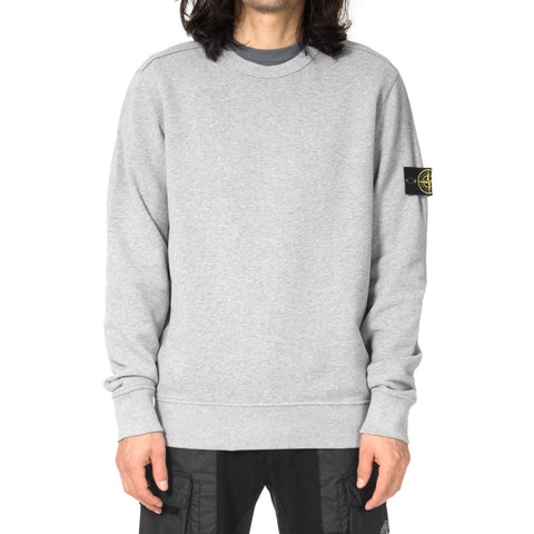 Cotton Fleece Garment Dyed Crewneck Polvere