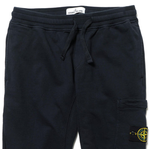 stone island Cotton Fleece Garment Dyed Fleece Pants Navy Blue