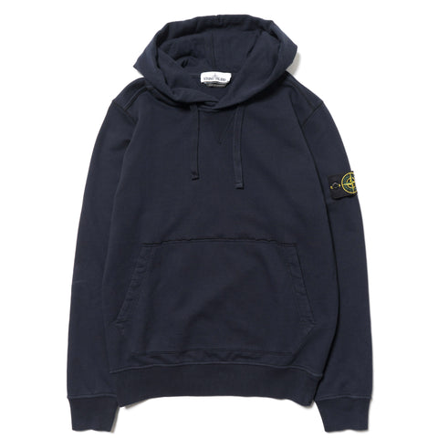 stone island Cotton Fleece Garment Dyed Pullover Navy Blue