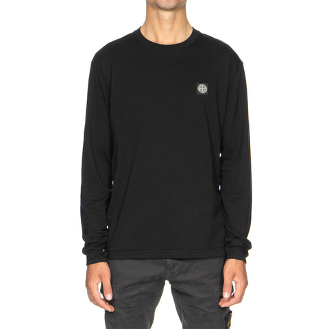 stone island Cotton Jersey Garment Dyed LS T-Shirt Black