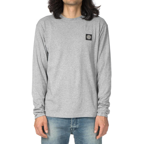 Stone Island Cotton Jersey Garment Dyed LS T-Shirt Polvere