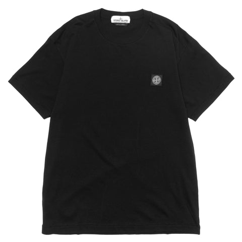 Stone Island Cotton Jersey Garment Dyed T-Shirt Black