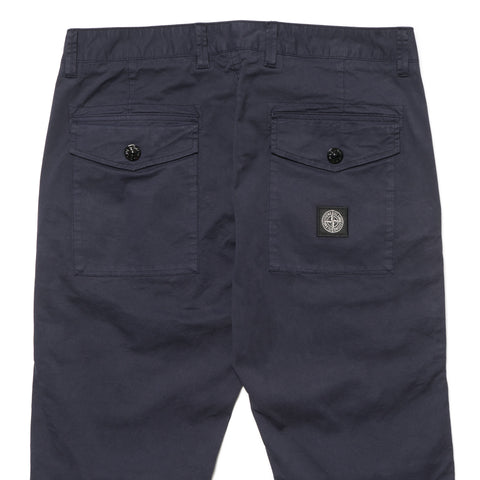 stone island Cotton Stretch Gabardine Garment Dyed Pants Ink