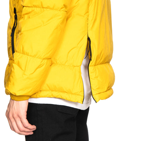 Stone Island Garment Dyed Crinkle Reps NY Real Down Outerwear Mustard