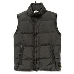 Stone Island Garment Dyed Crinkle Reps NY Vest Muschio