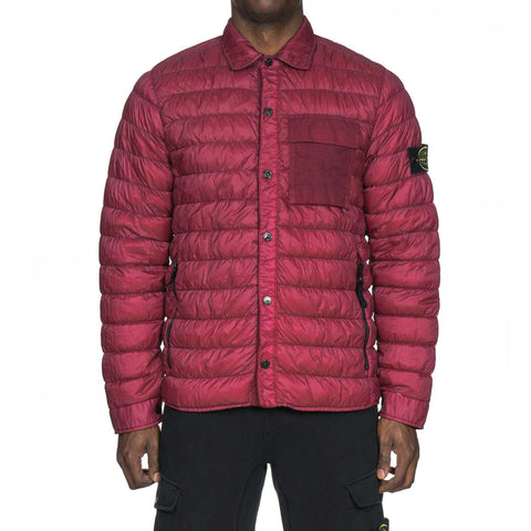 Stone Island Garment Dyed Micro Yarn Down Light Outerwear Cherry