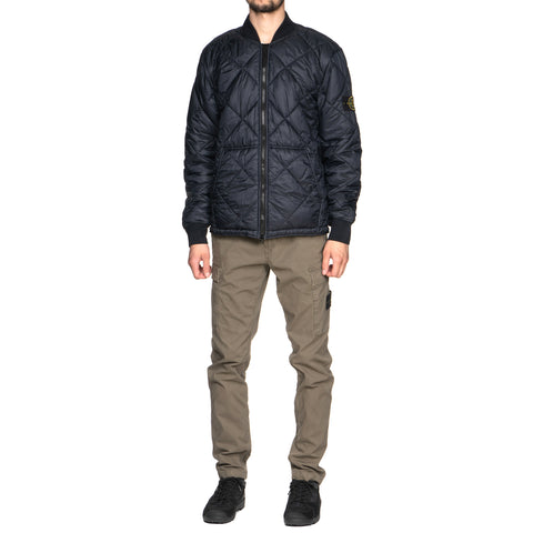 Stone Island Garment Dyed Micro Yarn Down Light Overcoat Navy