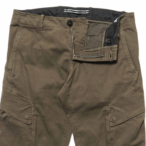 Stone Island Garment Dyed Slim Cargo Pant Military Green