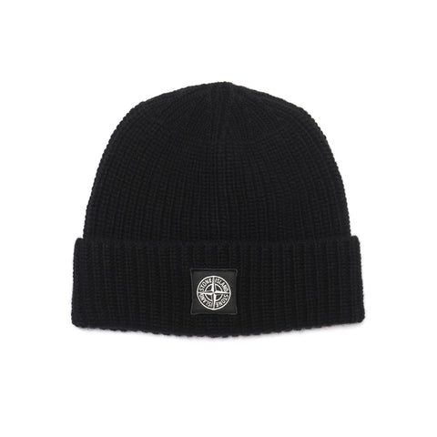Stone Island Geelong Wool Knit Beanie Black
