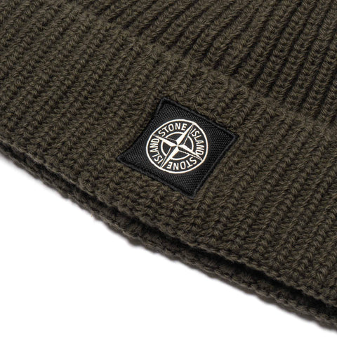 Stone Island Geelong Wool Knit Beanie Olive