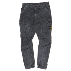 Stone Island House Check Grid Tela Cotton Nylon Garment Dyed Dust Color Cargo Pants