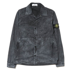 Stone Island House Check Grid Tela Cotton Nylon Garment Dyed Dust Color Overshirt Charcoal
