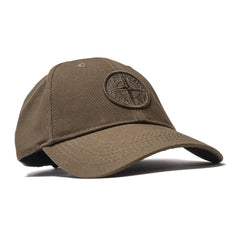 Stone Island Logo 6 Panel Cap Military Green