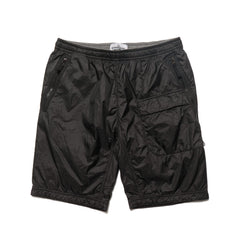 Lucid With Jersey Lining Garment Dyed Bermuda Shorts Black