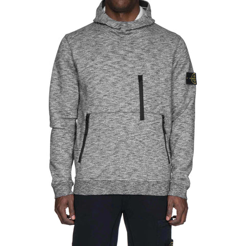 Stone Island Mouline Cotton Fleece Pullover Sweat-Shirt Black