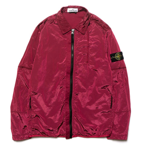 stone island Nylon Metal Lined Garment Dyed Overshirt Cherry