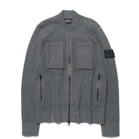 stone island shadow project A6 Cotone Invernale Winter Cotton Zip Knit Sweater Dark Gray