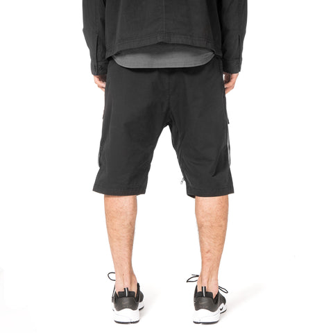 Stone Island Shadow Project Bermuda Zip Shorts Black