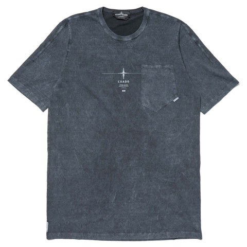 Stone Island Shadow Project Catch Pocket T-Shirt Gauzed Cotton Jersey Fallout Colour Treatment