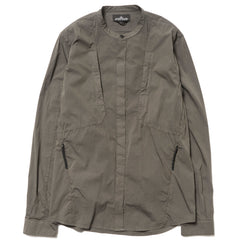 Stone Island Shadow Project Collarless Nylon BD Shirt Musk