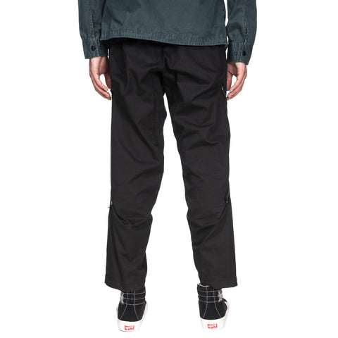 stone Island shadow project Comfort Gabardine Garment Dyed Zipper Pants Black