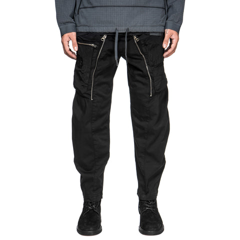Stone Island Shadow Project Cotton Wool Satin Convert Pant Black