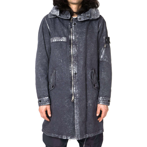 Stone Island David-C Garment Dyed Metal Treatment Fishtail Parka