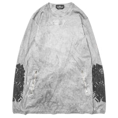 Stone Island shadow Project Jersey Cotton Garment Dyed Dust Treatment LS T-Shirt