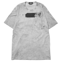Stone Island Shadow Project Jersey Cotton Garment Dyed SS T-Shirt Dust Treatment Charcoal