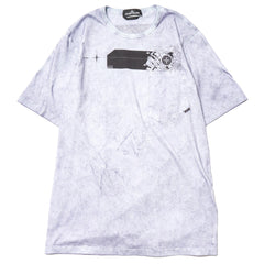 Stone Island Shadow Project Jersey Cotton Garment Dyed SS T-Shirt Dust Treatment Indaco